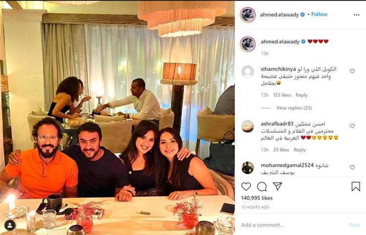 احمد العوضي وزوجته ويوسف الشريف وزوجته