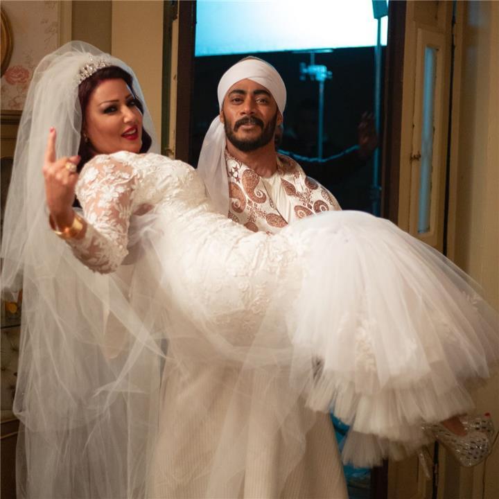 شقيقة محمد رمضان تعلق على حمله لسمية الخشاب في مشهد الزفاف بمسلسل موسى