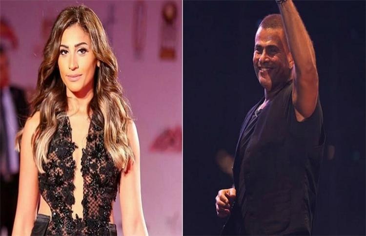رد زينة عاشور زوجة عمرو دياب على سفره مع دينا الشربينى فى طائرة خاصة