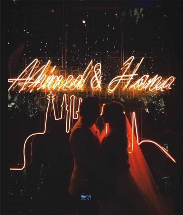 صور من حفل زفاف هنا الزاهد وأحمد فهمي كأميرات ديزني
