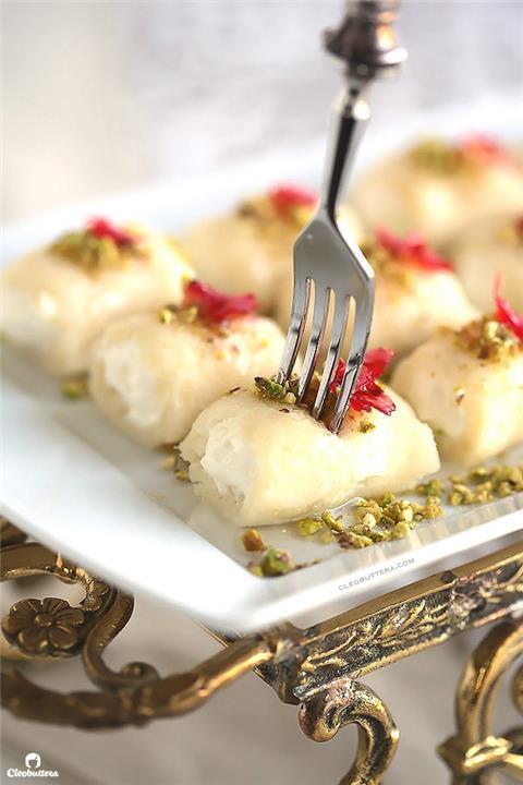 طريقة عمل حلوى الجبن اللبنانية