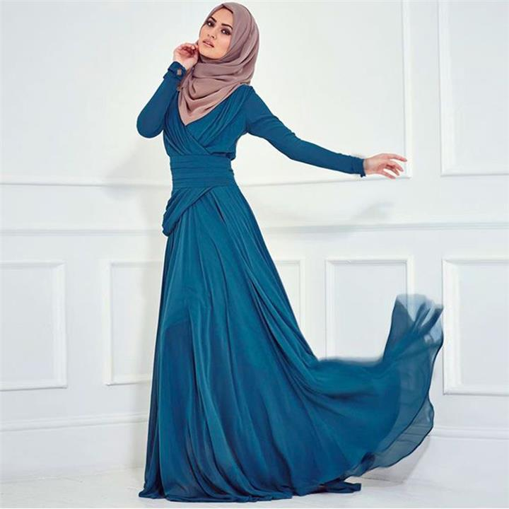 10 نصائح لاختيار فستان السهرة المناسب لشكلك مع الحجاب