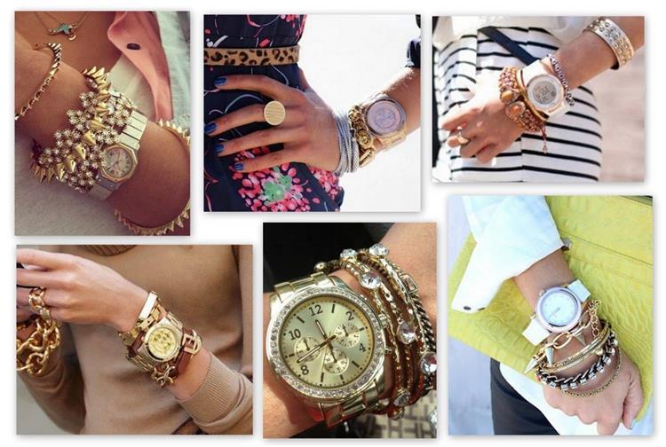 ارتداء ساعة اليد مع الاكسسوارات