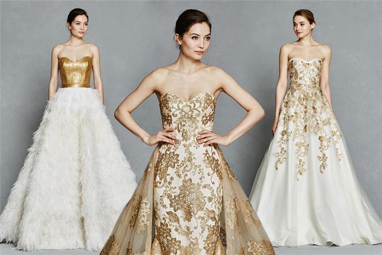 تستعدين للخطوبة اختارى الفستان الذهبى