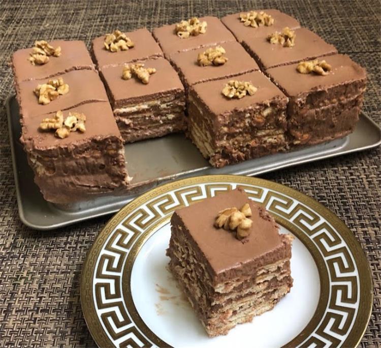 حلويات البسكويت الباردة كيك البسكويت بالشوكولاتة