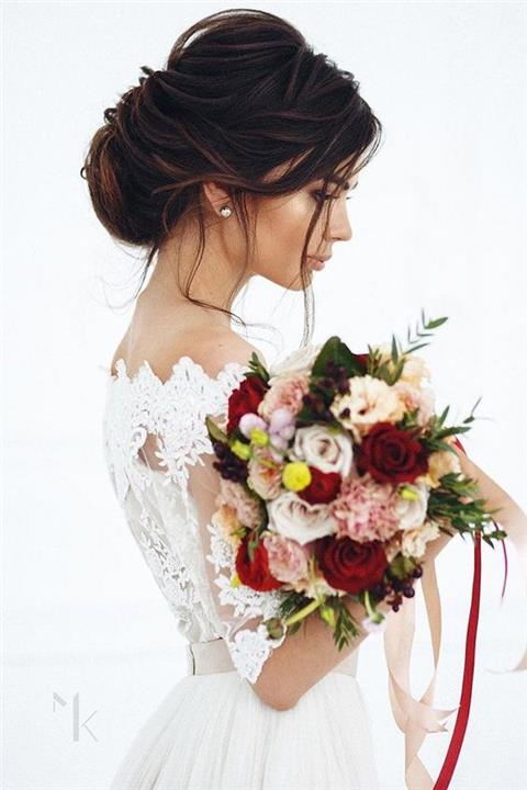 تسريحات شعر 2019 للأعراس بالصور