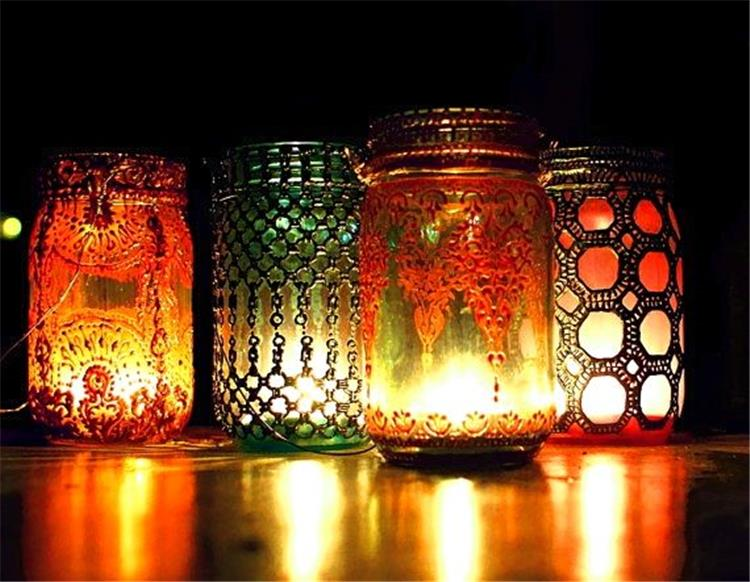 وفري ميزانيتك واصنعي فانوس رمضان من البرطمان الزجاج