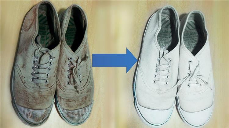 اسهل طريقة لتنظيف الحذاء القماش