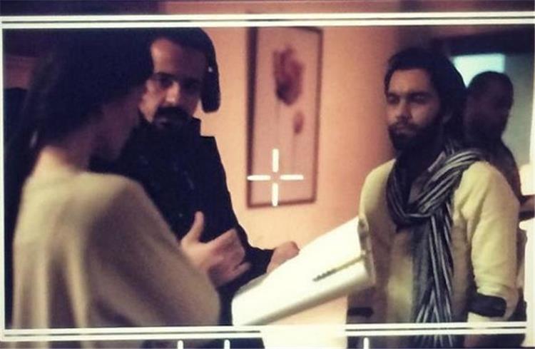"""شريف رمزي ينشر صورة تجمعه بـ """"بسمة"""" اثناء تصوير """"نصيبي وقسمتك"""""""