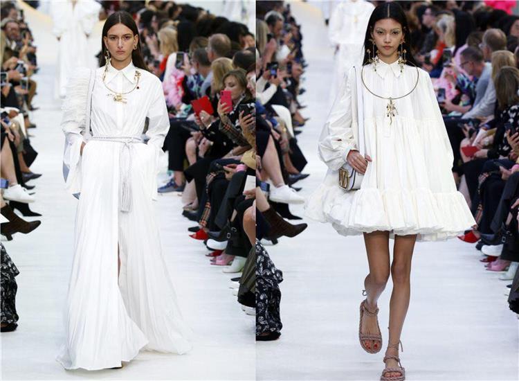 اللون الأبيض يكتسح ربيع 2020 تصميمات دار فلانتينو