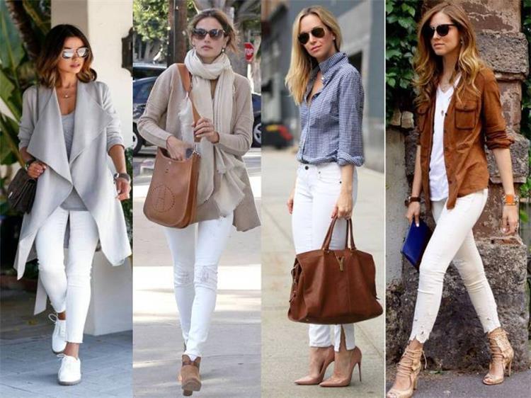 10 أفكار أنيقة لتنسيق البنطلون الأبيض مع ملابسك