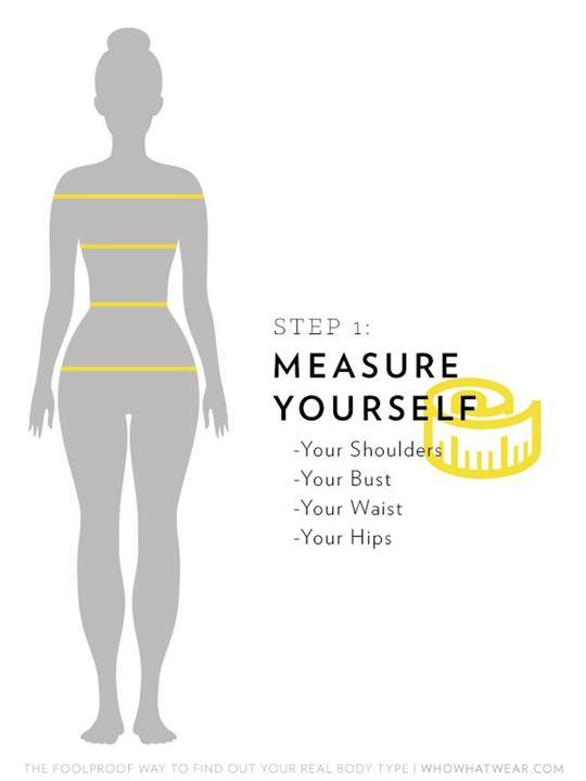 طريقة مثالية لتحديد شكل الجسم لاختيار الملابس المناسبة بسهولة