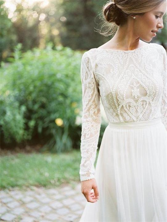 موديلات أنيقة لفساتين زفاف محتشمة وبسيطة
