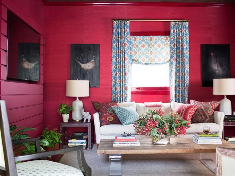 ابتكري في تجميل بيتك باستخدام اللون الأحمر بالصور