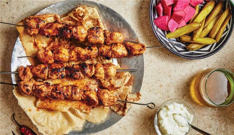 منيو غداء اليوم أكلة شيش طاووق مثل المحلات