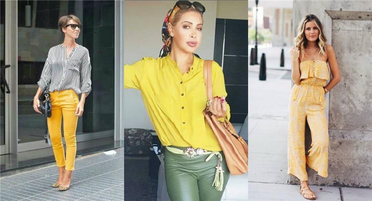 الأصفر يتربع على عرش موضة ألوان صيف 2018
