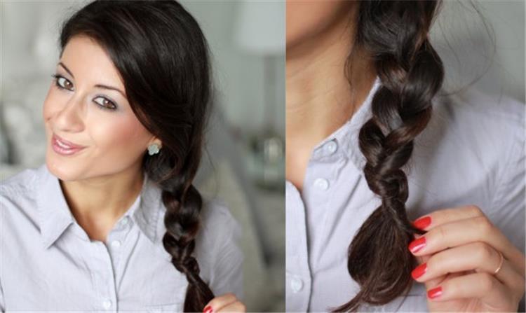3 خطوات سهلة لربط ضفيرة الشعر بدون توكة