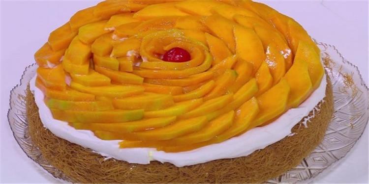 طريقة عمل الكنافة بالمانجو والكريمة في رمضان