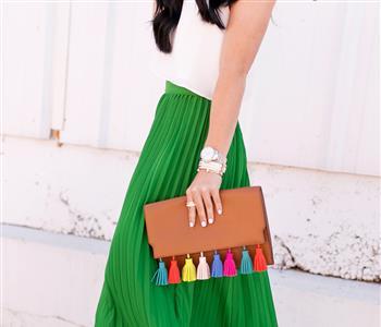 الأخضر الفاتح لون الموضة في ربيع 2018