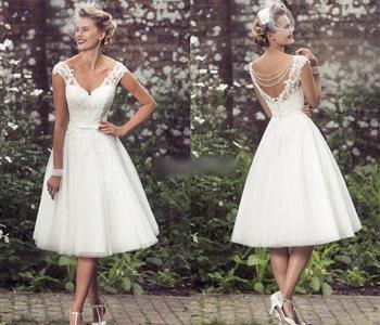 فساتين زفاف قصيرة مذهلة إذا كنت تريدين التميز