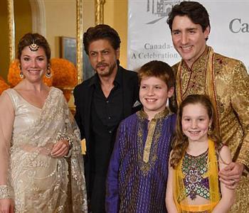 شاروخان يستقبل رئيس وزراء كندا