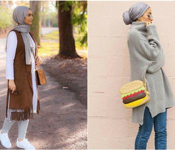 صور ملابس محجبات لشتاء 2018
