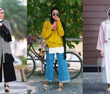 """طرق ارتداء البنطلون الـ """"culottes"""" مع الحجاب"""