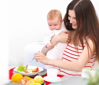 نظام غذائي لاستعادة رشاقتك خلال فترة الرضاعة